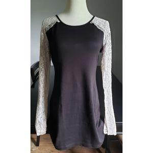 [Olsenboye] Black Lace Mini Dress